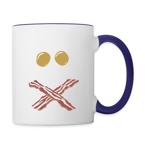 Breakfast Skull - Contrast Coffee Mug