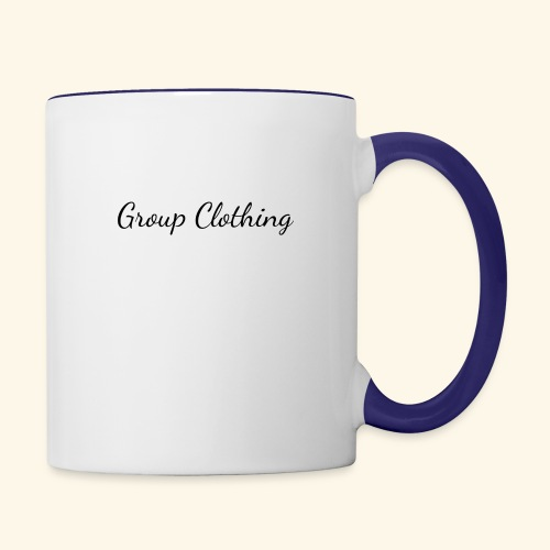 Cursive Black and White Hoodie - Contrast Coffee Mug