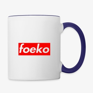 Foeko Logo Red Box - Contrast Coffee Mug