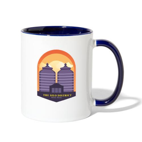 The Silos in Waco - Contrast Coffee Mug