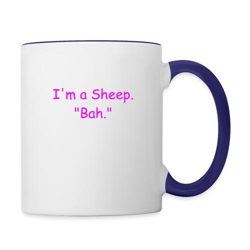 I'm a Sheep. Bah. - Contrast Coffee Mug