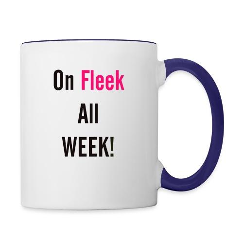 On Fleek All Week - Contrast Coffee Mug