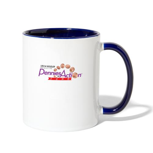 Pennies In Action Logo - Contrast Coffee Mug