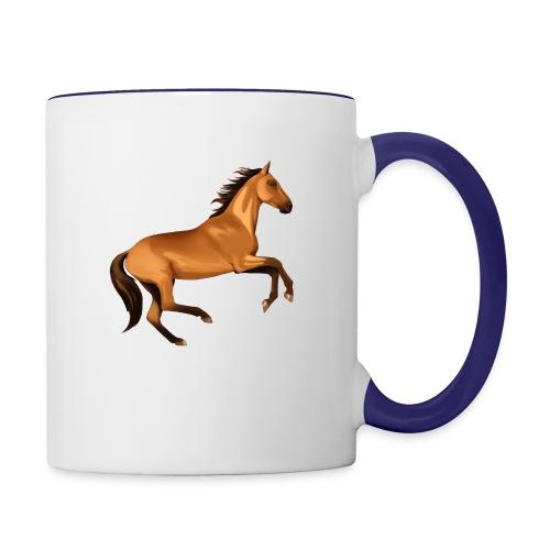 horse riding - Contrast Coffee Mug