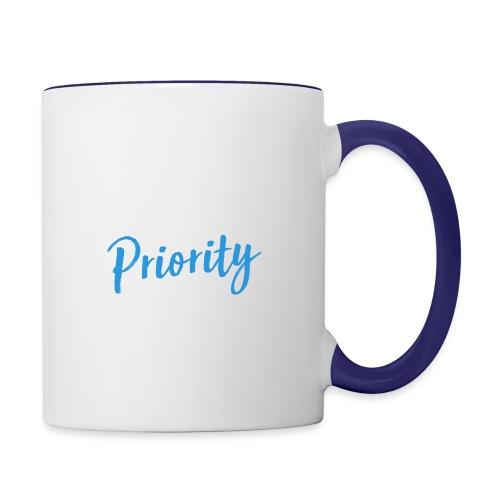 Self-Love is My Priority Shirt Design - Contrast Coffee Mug