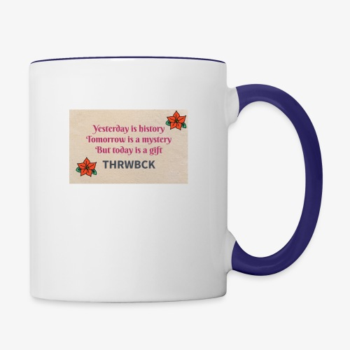 THRWBCK quote - Contrast Coffee Mug