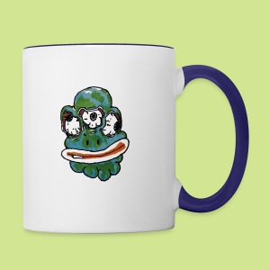 Earth Face - Contrast Coffee Mug