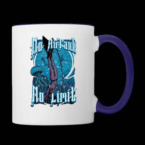 No Air Tank No Limit Freediving merchandise - Contrast Coffee Mug