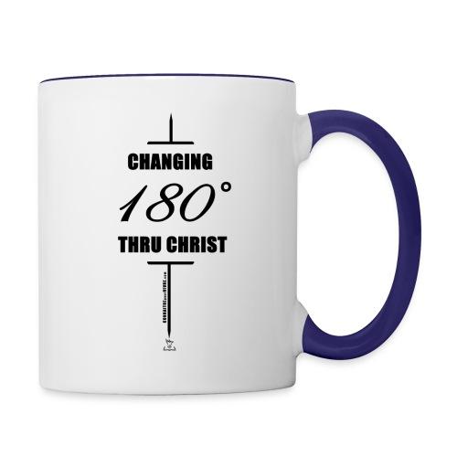 Changement à 180 degrés grâce au CHRIST - Tasse bicolore