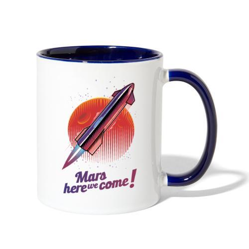 Mars Here We Come - Light - Contrast Coffee Mug