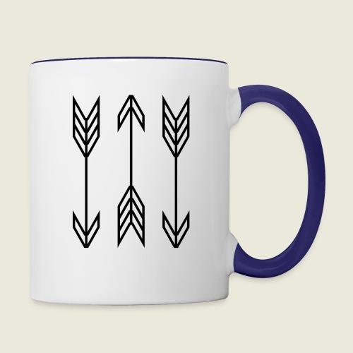 arrow symbols - Contrast Coffee Mug