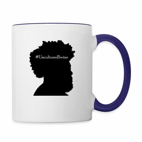#UnculturedSwine - Contrast Coffee Mug