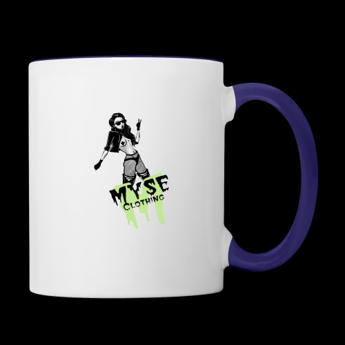 MYSE Clothing - badass babe - Contrast Coffee Mug