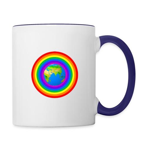 Earth rainbow protection - Contrast Coffee Mug