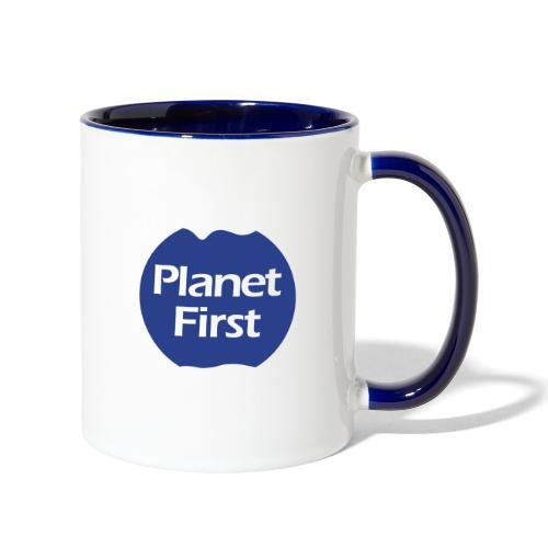 PlanetFirst2 - Contrast Coffee Mug