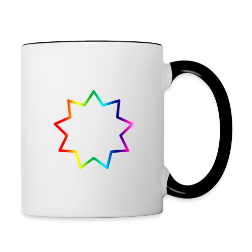 Baha´i rainbow - Contrast Coffee Mug