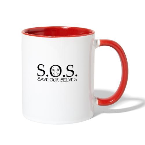 SOS Black on Black - Contrast Coffee Mug
