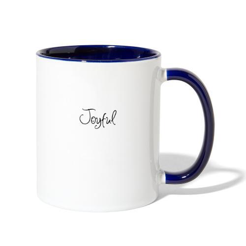 Joyful Curvy - Contrast Coffee Mug
