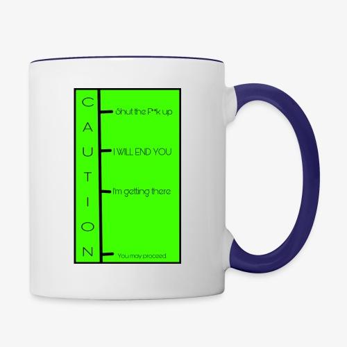 When to talk chart - Contrast Coffee Mug