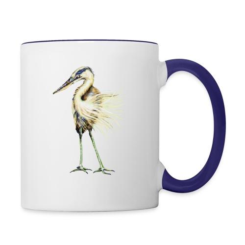 Great Blue Heron - Contrast Coffee Mug