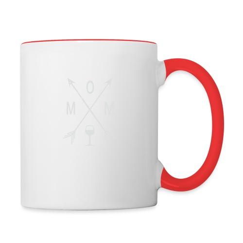 Mom Wine Time - Contrast Coffee Mug