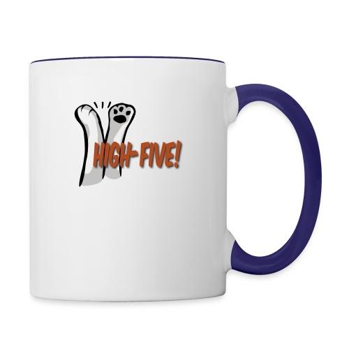 hi5 paws - Contrast Coffee Mug