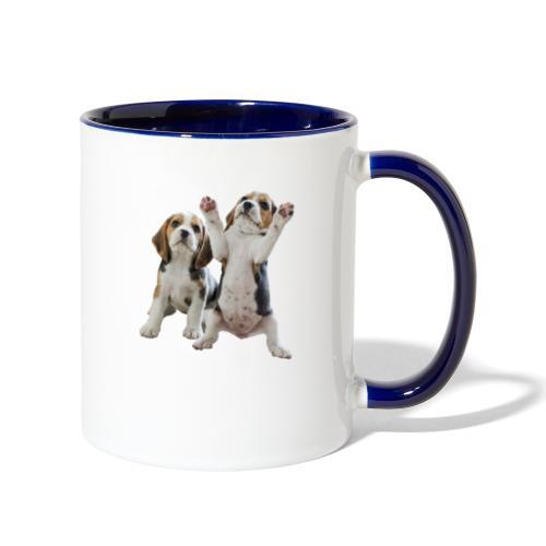 puppy - Contrast Coffee Mug