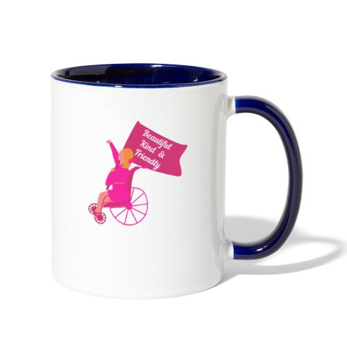 Beautiful Kind and Friendly - Contrast Coffee Mug