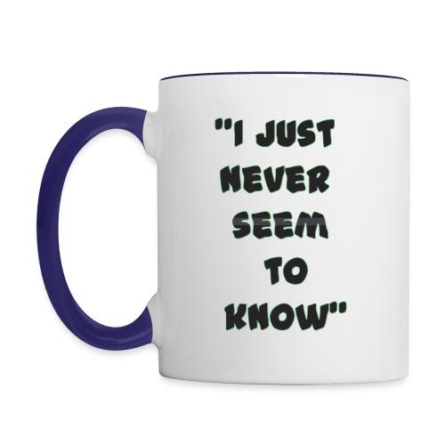 know png - Contrast Coffee Mug