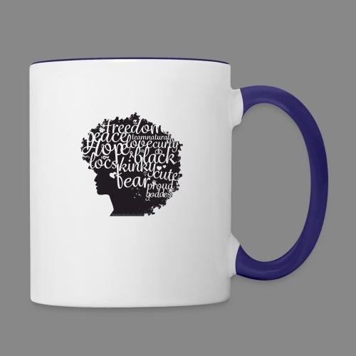 Afro Text II - Contrast Coffee Mug