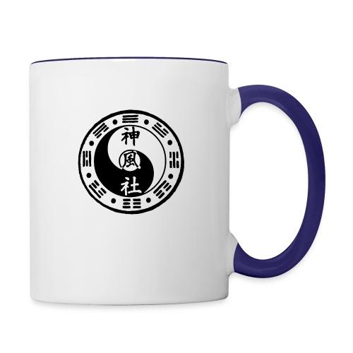 SWC LOGO BLACK - Contrast Coffee Mug