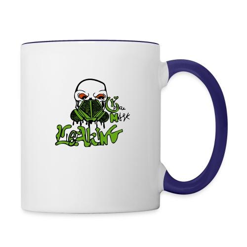 Leaking Gas Mask - Contrast Coffee Mug