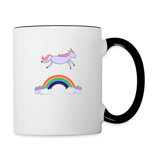 Flying Unicorn - Contrast Coffee Mug