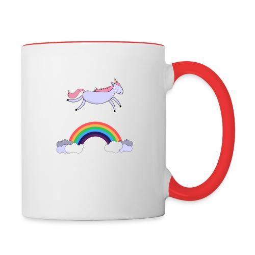 Flying Unicorn - Contrast Coffee Mug