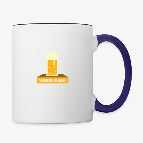 wish you were beer - Contrast Coffee Mug