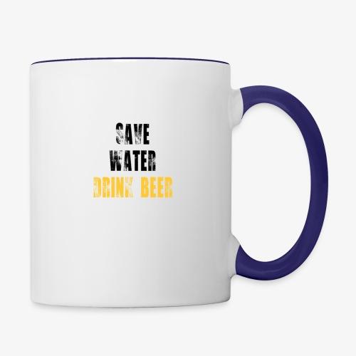Save water drink beer - Contrast Coffee Mug