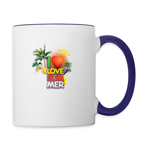 I love summer - Contrast Coffee Mug