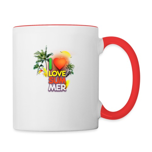 I love summer - Contrast Coffee Mug