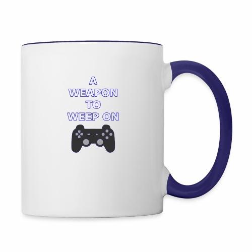 A Weapon to Weep On - Contrast Coffee Mug