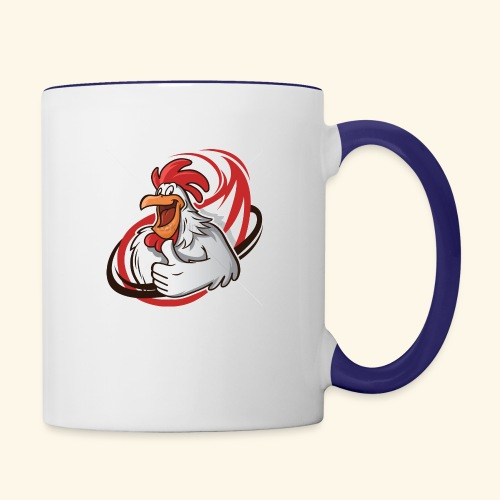cartoon chicken with a thumbs up 1514989 - Contrast Coffee Mug
