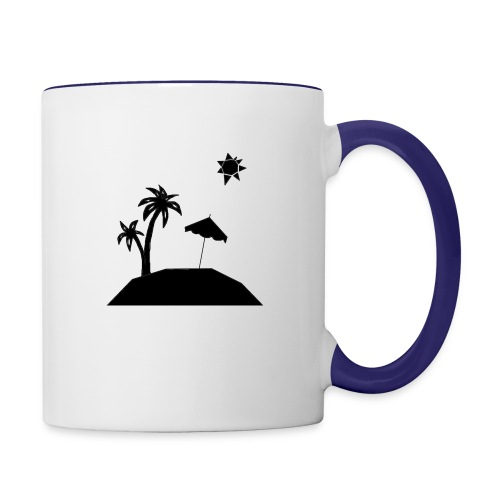 Beach Silhouette - Contrast Coffee Mug