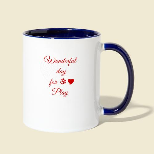 108-lSa Inspi-Shirt-85.b ... for OM-Love Play - Contrast Coffee Mug