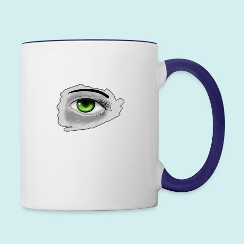Realist Anime green eye - Contrast Coffee Mug