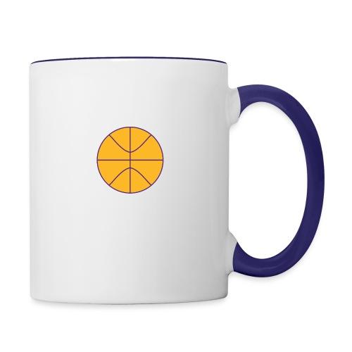 Basketball purple and gold - Contrast Coffee Mug
