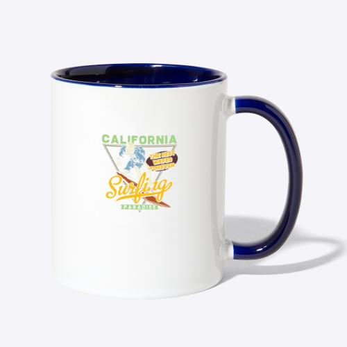 California Surfing Paradise - Contrast Coffee Mug