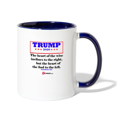 Trump 2020 Eccl 10 2 Black - Contrast Coffee Mug