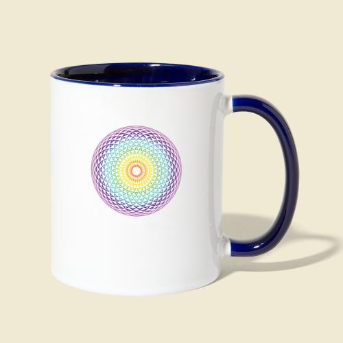 Torus Yantra Hypnotic Eye rainbow - Contrast Coffee Mug