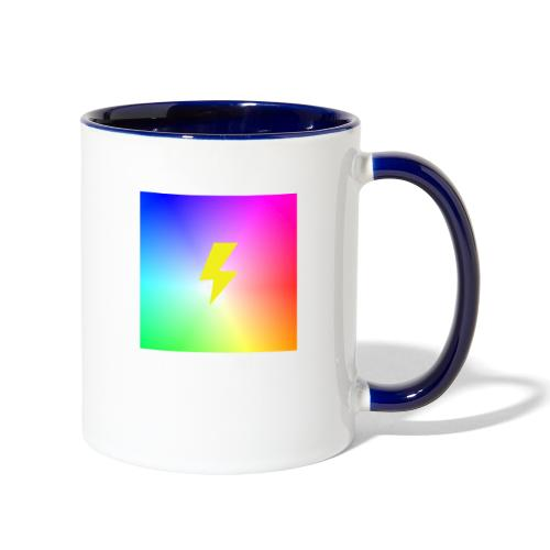Rainbow lightning t-shirt - Contrast Coffee Mug