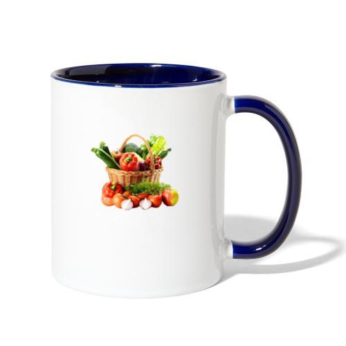 Vegetable transparent - Contrast Coffee Mug