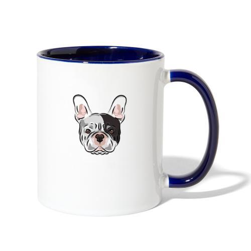 pngtree french bulldog dog cute pet - Contrast Coffee Mug